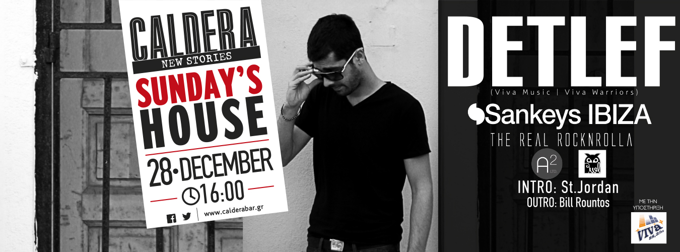 Guest: Detlef || Caldera Sunday's House || 28 December (16:00)